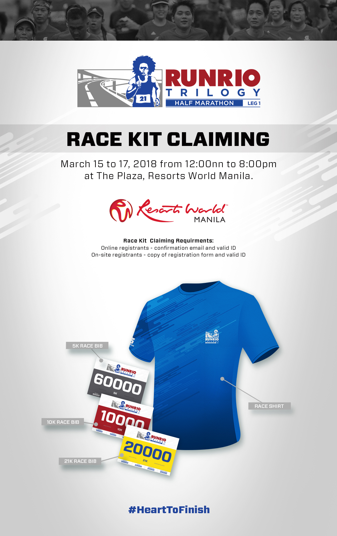 RUNRIO Trilogy Race Kit Claiming